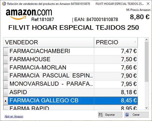 Comparar precios en Amazon