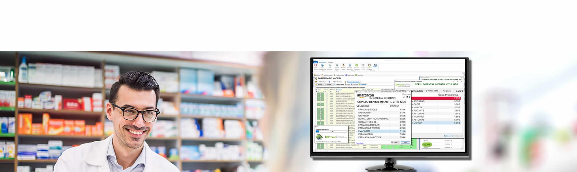 Farmacéutico Contengo con MWSConnect